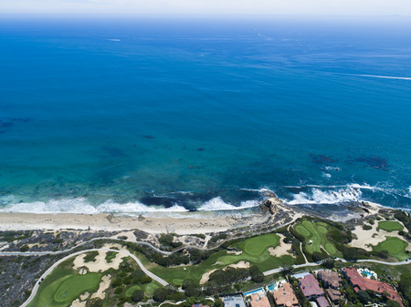 Aerial view of costal area in California.