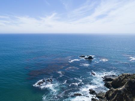Beautiful sea and sky, natural aerial shots.