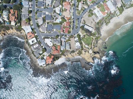Aerial photograph of resort area. Beautiful seas and coastline.