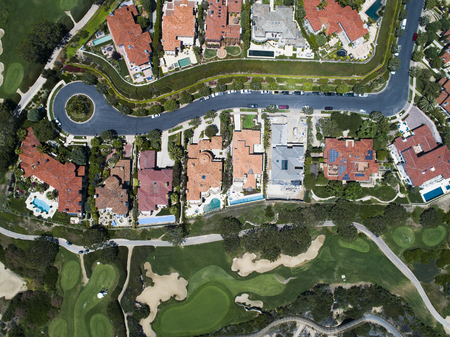 Aerial view of a beautiful resort in California. Zdjęcie Seryjne
