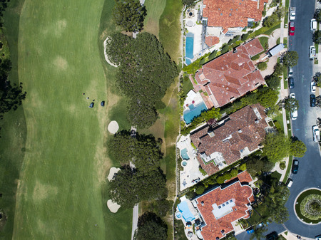 Aerial shooting of golf courses and resort areas. Zdjęcie Seryjne