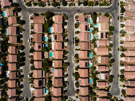 Aerial shooting of a new luxury residential area.