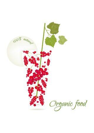 Organic food vector illustration