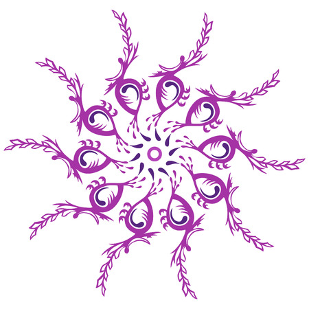 Swirl of ten identical items