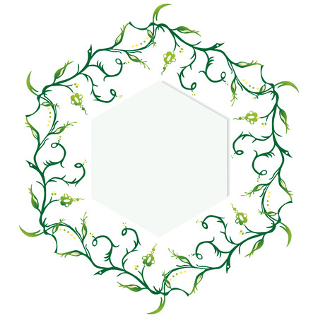 cadre: Frame of six identical floral items Illustration
