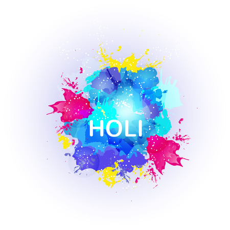 dust cloud: Abstract colorful Happy Holi background. Design for Indian Festival of Colours. Vector illistration
