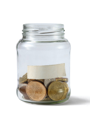 debet: Money on the bottle,dollar,isolated  white