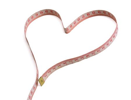 心の形成測定テープ。 写真素材