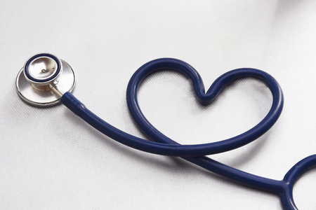 shaping: A medical stethoscope shaping a heart