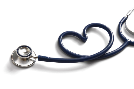 stethoscope: A stethoscope in the form of a heart