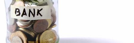 debet: money on the bottle,dollar,isola ted on white background