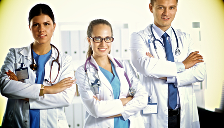 physiotherapists: Healthcare and medical - young team or group of doctors .