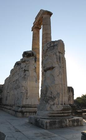 apollo: Ruins Temple of Apollo Didim Turkey Stock Photo