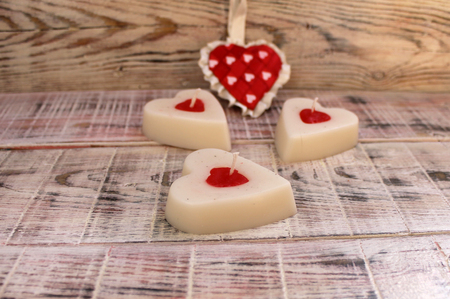 easter candle: Candle in the shape of a heart for Valentines Day or Easter gift