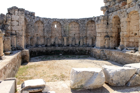 Ruins of the ancient city Perge Turkey