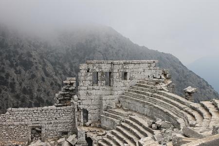 テルメッソスとは、歴史的な地域の南東部に位置する古代都市ですか?ピシディア 写真素材