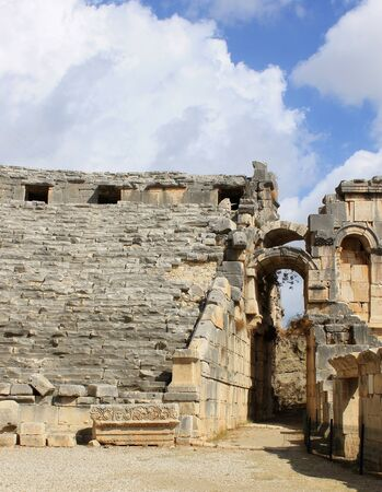 Mira Antique City in Demre, Turkey. The ruins of the ancient city.