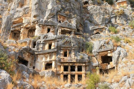 Mira Antique City in Demre, Turkey. The ruins of the ancient city. Фото со стока - 129919733