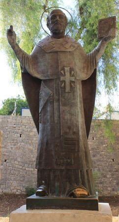 Monument to st Nicholas in Demre, Turkey Фото со стока