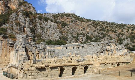 Mira Antique City in Demre, Turkey. The ruins of the ancient city. Фото со стока - 129919661