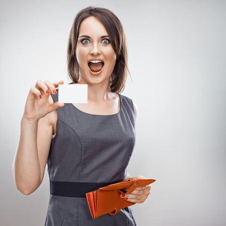 Woman hold credit card  Business concept