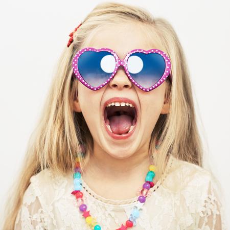 Beauty face portrait, child girl fashion model.