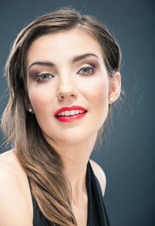Woman hair style fashion portrait . isolated. make up female face. Stock fotó