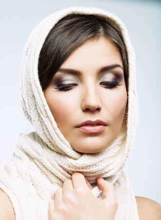 Young woman close up beauty, fashion style portrait. Banco de Imagens