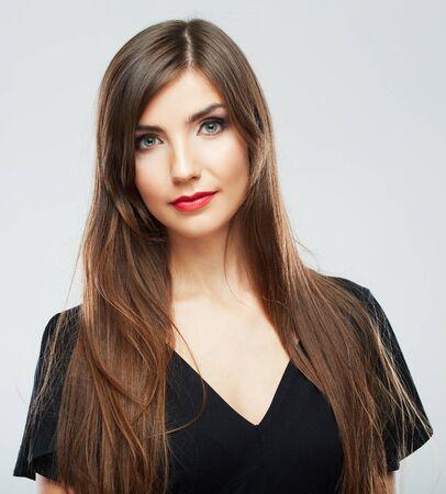 Business woman studio portrait. Female model. Фото со стока