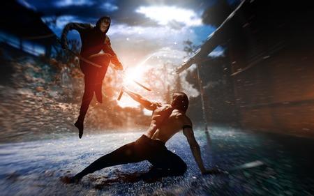 Photo fantasy battle ninja, super heroes, assassins