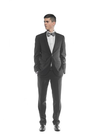 suitor: Portrait of a young elegant handsome business man isolated on white background
