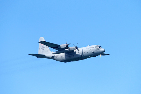 San Francisco, CA - October 05, 2018: US Air Force Missouri Air Guard plane ST JOSEPH performing in the 37th annual Fleet Week Air Show in San Francisco, California. Editorial