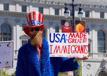 San Francisco, CA - June 30, 2018: Thousands of protestors in a