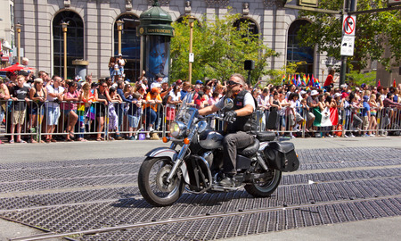 San Francisco, CA - June 24, 2018: Participants of the 48th annual Gay Pride Parade, one of the oldest and largest LGBTQIA parades in the world hosting over 280 contingents this year.