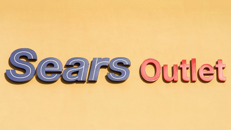 Brea, CA - February 11, 2017. Sears, Roebuck and Co, colloquially known as Sears, is an American chain of department stores founded by Richard Warren Sears and Alvah Curtis Roebuck in 1892 and 1906. Editorial