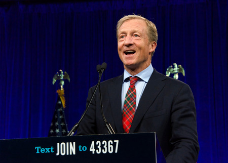 San Francisco, CA - August 23, 2019: Presidential candidate Tom Steyer speaking at the Democratic National Convention summer session in San Francisco, California. Redakční