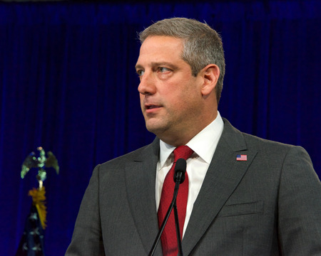 San Francisco, CA - August 23, 2019: Presidential candidate Tim Ryan speaking at the Democratic National Convention summer session in San Francisco, California.