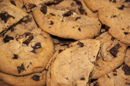 tantalizing: Chocolate Chunk Cookies Stock Photo