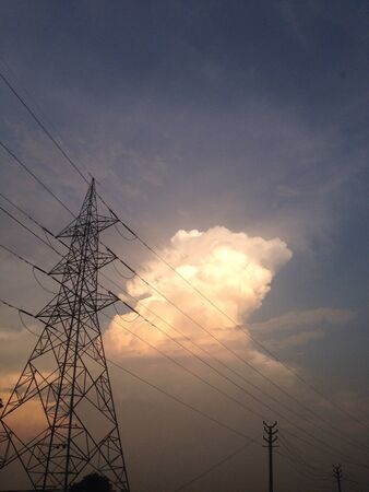 wire: Electricity tower