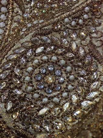 closeup: Saree design Stock Photo