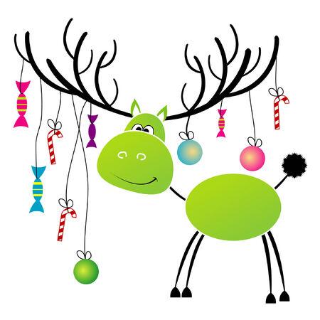 Weihnachten Rentiere mit Geschenk für Sie Standard-Bild - 6730792