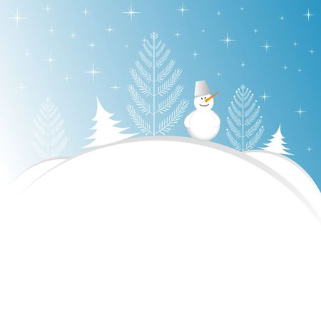 Christmas background with snowman Stock Vector - 7301275