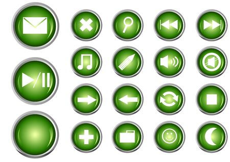 Glossy Button Set for Web Applications Vector