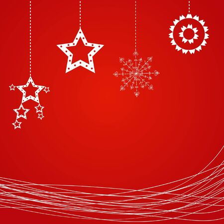 Sample Christmas background with snowflake. Vector
