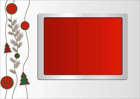 Sample Christmas background with tree Vector