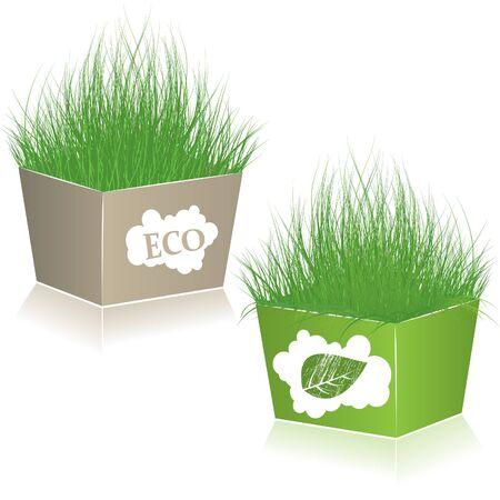 Eco Shopping Taschen.  Standard-Bild - 7253155