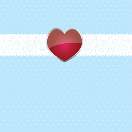 latter: Colorful background with ribbon  and heart on white paper for you