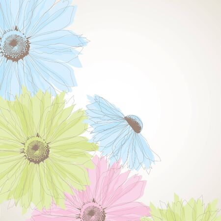 Abstract background with pastel flowers.