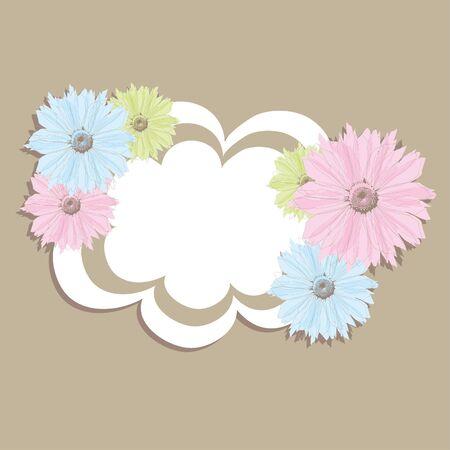 scrap booking:  Flower banner.