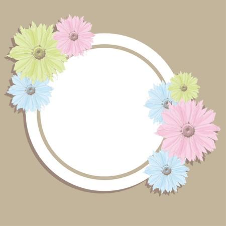 Flower banner.  Illustration